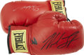 Boxing Collectibles:Autographs, Sugar Ray Leonard and Mike Tyson Signed Boxing Gloves Lot of 2. Twoof the most-celebrated pugilists in recent memory appea...