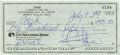 """Movie/TV Memorabilia:Autographs and Signed Items, Cher Signed Check. A personal check written for $150 dollars in cash, dated July 9, 1999 (with """"facial"""" written on the memo ..."""