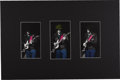 "Music Memorabilia:Photos, Eric Clapton Photo Display. Set of three color tinted b&w 5"" x9"" photos of Clapton performing circa the late 1960s-early '7..."