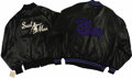 "Music Memorabilia:Costumes, ""Soul Man"" and ""House of Blues"" Jackets. Included are a black satinjacket with a ""Soul Man"" logo embroidered on the back an..."