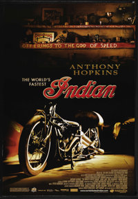 "The World's Fastest Indian (Magnolia Pictures, 2005). One Sheet (27"" X 41""). Adventure. Starring Anthony Hopki..."