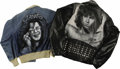 Music Memorabilia:Costumes, Janis Joplin and Jim Morrison Airbrushed Jackets. Includes a denimjacket with an airbrushed image of Janis Joplin onto the ...