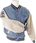 Music Memorabilia:Costumes, Steve Miller Band Joker's Ball Tour Jacket. Adult size Smallcotton-and-denim tour jacket for the Steve Miller Band's 1997 J...