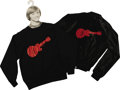 Music Memorabilia:Memorabilia, Monkees Tour Jacket and Sweatshirt. A black satin jacket (L) and sweatshirt (XL, on a Peter Tork clothes hanger) from the Mo... (Total: 1 Item)