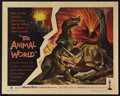 "Movie Posters:Documentary, The Animal World (Warner Brothers, 1956). Half Sheet (22"" X 28""). Documentary. Directed by Irwin Allen. Narrated by John Sto..."