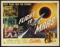 """Movie Posters:Science Fiction, Flight to Mars (Monogram, 1951). Half Sheet (22"""" X 28"""") Style B.Science Fiction. Starring Marguerite Chapman, Cameron Mitch..."""