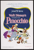 "Movie Posters:Animated, Pinocchio (Buena Vista R-1978). One Sheet (27"" X 41""). Family. Starring the voices of Dick Jones, Cliff Edwards, Christian R..."