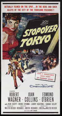 "Stopover Tokyo (20th Century Fox, 1957). Three Sheet (41"" X 81""). Drama. Starring Robert Wagner, Joan Collins..."