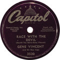 Music Memorabilia:Recordings, Gene Vincent and His Blue Caps 78 Group of 4 (Capitol 1956-57).Vincent was an integral part of the new genre called Rock 'n...