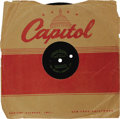 Music Memorabilia:Recordings, Gene Vincent Acetate Group of Two (1960). Two rare acetates from one of Rock and Roll's pioneers. In fact each of these copi... (Total: 2 Items)
