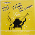 """Music Memorabilia:Recordings, """"Lester Young Trio"""" Red Vinyl 10"""" LP (Aladdin 705, 1953). Actually more like an EP, since the 10"""" record contained only four..."""
