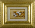 Fine Art - Painting, American:Other , G. NEEDHAM (American). Bees on Honeycomb. Watercolor. Signedto lower right. Handwritten to verso From Mary D., Feb. 7...