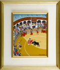 Fine Art - Painting, European:Contemporary   (1950 to present)  , F. BREEBAART. Torros, 1982. Acrylic on masonite. Signed tolower right, artist seal to verso. 10.5in. x 8.5in.. ...