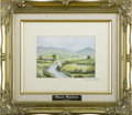 Paintings, JANE MOFFATT (Irish). Mourne Mountains. Photo reproduction print. Signed to lower right, labeled with description to ver...