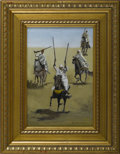 Fine Art - Painting, American:Contemporary   (1950 to present)  , FIGUEROA (American). Arab Riflemen, 1980. Oil on masonite.Signed to lower right. 11-3/4in. x 7-7/8in.. ...