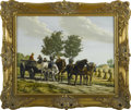 Fine Art - Painting, European:Other , VERGEER. European Farm Scene. Oil on panel. Signed to lowerleft. 15.5in. x 19.5in.. ...