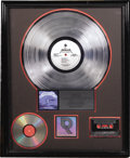 "Music Memorabilia:Awards, Metallica ""Ride the Lightning"" RIAA Platinum Album Award. Presentedto David Tyson by the RIAA to commemorate the sale of on..."