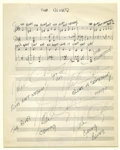 "Music Memorabilia:Sheet Music, Duke Ellington Handwritten Sheet Music. He preferred the term""American music"" over ""Jazz,"" but whatever the terminology, Du..."