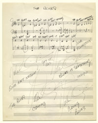 "Duke Ellington Handwritten Sheet Music. He preferred the term ""American music"" over ""Jazz,"" but what..."