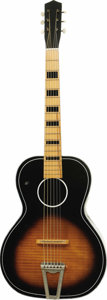 Musical Instruments:Acoustic Guitars, Elvis Presley Owned and Used Guitar. Owned and used by Elvis Presley, this Italian-made acoustic guitar was previously a cro...