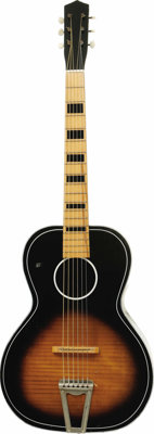 Elvis Presley Owned and Used Guitar. Owned and used by Elvis Presley, this Italian-made acoustic guitar was previously a...