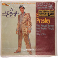 """Elvis Presley """"A Touch Of Gold - Volume I"""" EP (RCA 5088, 1959). Wonderful sealed copy includes a special Elvis..."""