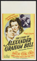 """Movie Posters:Drama, Story of Alexander Graham Bell, The (20th Century Fox, 1939). Mini-Window Card (8"""" X 14""""). This Hollywood bio-pic was a star..."""