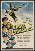 "Movie Posters:War, Eagle Squadron (Universal, 1942). One Sheet (27"" X 41""). War.Starring Robert Stack, Diana Barrymore, Jon Hall, Eddie Albert..."