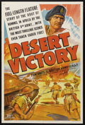 """Movie Posters:Documentary, Desert Victory (20th Century Fox, 1943). One Sheet (27"""" X 41""""). Documentary. Narrated by J.L. Hodson. Directed by Roy Boulti..."""