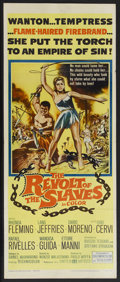 "Movie Posters:Adventure, The Revolt of the Slaves (United Artists, 1961). Insert (14"" X36""). Adventure. Starring Rhonda Fleming, Lang Jeffries, Dari..."