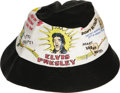 Music Memorabilia:Memorabilia, Elvis Presley Vintage Daisy Mae Hat. A size Medium vintage black Daisy Mae hat, circa 1956, with images of Elvis and the ori...