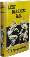 Books:Signed Editions, L. Sprague de Camp: Inscribed Review Copy of Lest Darkness Fall. (Philadelphia: Prime Press, 1949), second edition, 233 ... (Total: 2 )