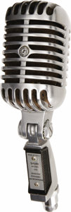 Music Memorabilia:Props, Elvis Presley's Studio Microphone From MGM Studios. A vintage Shure Model 555 unidyne dynamic microphone used by Elvis while...