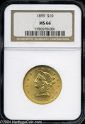 Liberty Eagles: , 1899 MS66 NGC. ...
