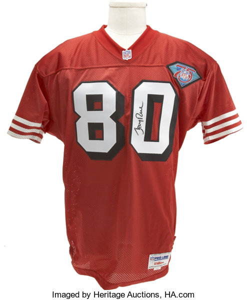 free shipping 8b392 7ffd5 Jerry Rice Signed Throwback Jersey. In 1994 the NFL ...