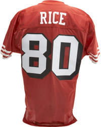 free shipping 80412 a6ca2 Jerry Rice Signed Throwback Jersey. In 1994 the NFL ...