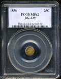 California Fractional Gold: , 1856 Liberty Round 25 Cents, BG-229, R.4, MS62 PCGS. ...
