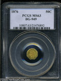 California Fractional Gold: , 1876 Indian Octagonal 50 Cents, BG-949, R.4, MS63 PCGS. ...