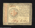 Colonial Notes:Continental Congress Issues, Continental Currency $2 January 14, 1779 Very Fine. A ...