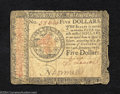 Colonial Notes:Continental Congress Issues, January 14, 1779, $5, Continental Congress Issue, CC-91, Fine. ...