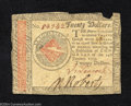 Colonial Notes:Continental Congress Issues, January 14, 1779, $20, Continental Congress Issue, CC-92, VF. ...