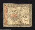 Colonial Notes:Continental Congress Issues, January 14, 1779, $50, Continental Congress Issue, CC-97, XF. ...