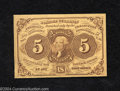 Fractional Currency:First Issue, First Issue 5c, Fr-1230, Choice-Gem CU. This lovely piece of ...