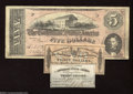 Confederate Notes:1863 Issues, Three Items, including Two Different Confederate Bond Interest ...(3 items)