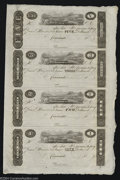 Obsoletes By State:Ohio, 18__ $5-$3-$2-$1 Uncut Sheet of Post Notes Unknown Issuer, ...