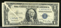 Error Notes:Gutter Folds, 1935E $1 Silver Certificate, Fr-1614, Very Fine. One wide and ...