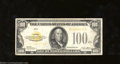 Small Size:Gold Certificates, 1928 $100 Gold Certificate, Fr-2405, Very Fine, washed. The ...