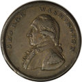 Colonials, Undated PENNY Washington Liberty & Security Penny, Corded RimAU53 PCGS....