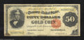 Large Size:Gold Certificates, Fr. 1197 $50 1882 Gold Certificate Fine. This very scarce ...