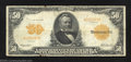 Large Size:Gold Certificates, 1913 $50 Gold Certificate, Fr-1199, Fine. This majestic $50 ...